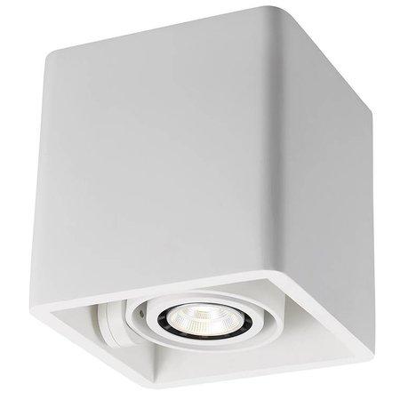 Plafondlamp wit gips vierkant design GU10x1 130x130mm
