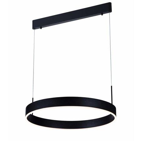 Luminaire suspendu noir, brun, blanc LED rond 22W 571mm