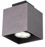 Plafonnier led carré GU10 blanc, noir, cuivre brun 5W 90x90mm