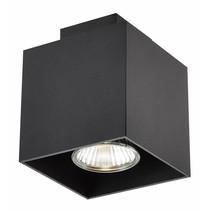 Plafondlamp wit, koper bruin, zwart GU10 5W 90x90mm