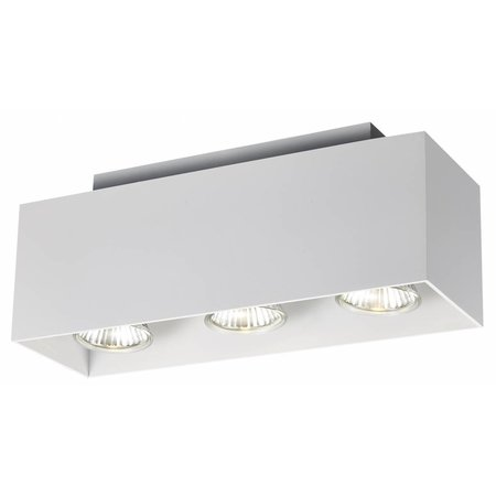 Ceiling light GU10 white, black, copper brown 3x5W 270x90mm