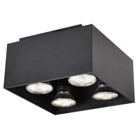 Vierkante plafondlamp LED 4x5W GU10