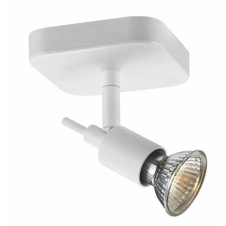 Plafondlamp wit of zwart GU10 spot op stang 5W LED