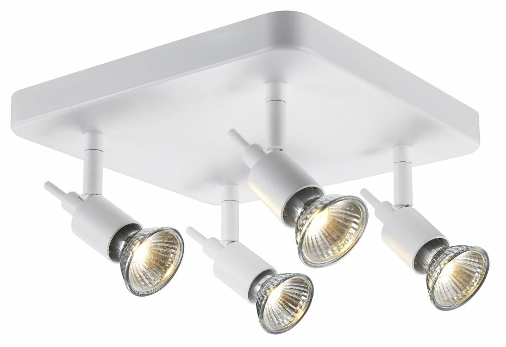 Ceiling Light Gu10 White Or Black Spot On Rod 4x5w Led