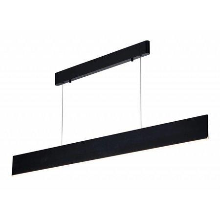 Lange dimbare hanglamp SMD LED strak wit of zwart 37W 1,8m