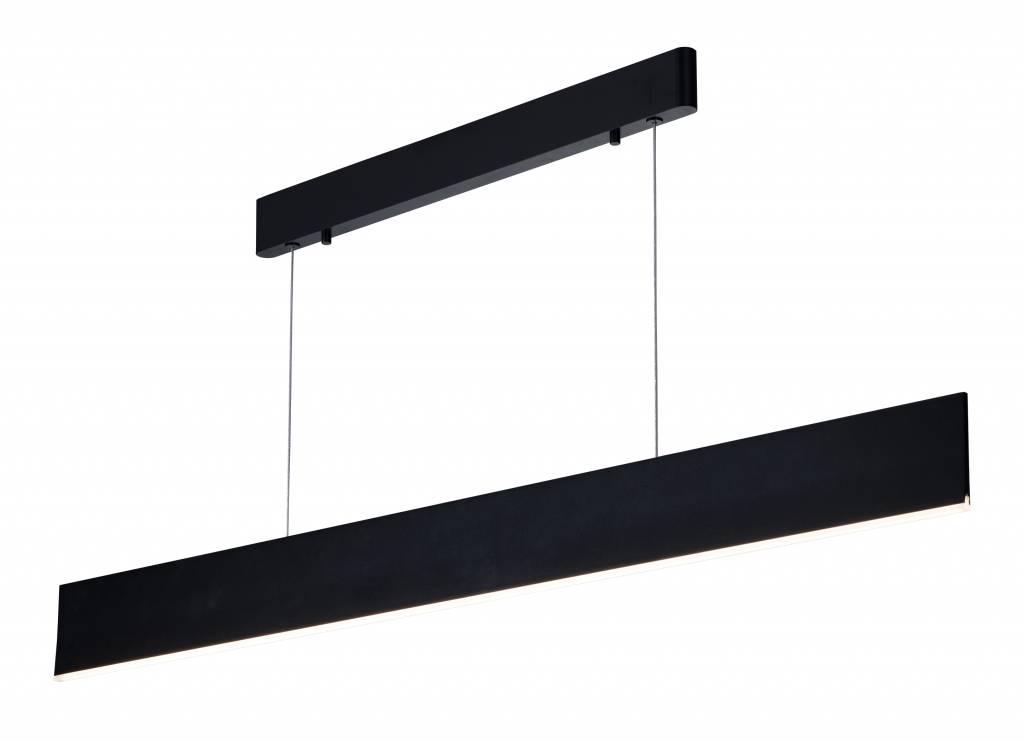 Strakke Witte Eettafel.Lange Hanglamp Smd Led Strak Wit Of Zwart 37w 1 8m Myplanetled