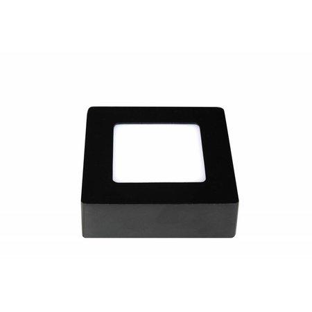 Plafonnier dimmable LED carré noir et blanc 120x120mm 6W