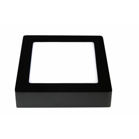 Dimmable ceiling light LED black or white 175x175mm 12W