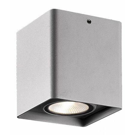 Ceiling light bathroom LED white, black or grey 9W 900mm square