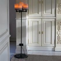Landelijke staande lamp kandelaar LED kaarsen x5 140cm