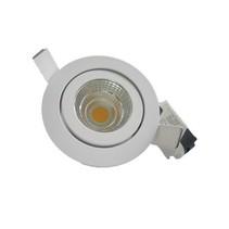 Inbouwspot LED 7W richtbaar grijs of wit 30°/40°/60°/90°