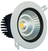 Inbouwspot plafond 12W LED gatmaat 95mm