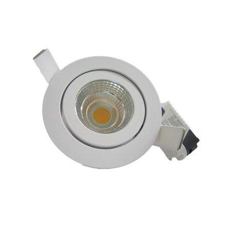 Spot encastrable LED 5W blanc/gris 30°/40°/60°/90° IP45