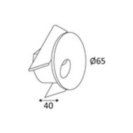 Wandlamp design LED wit 65mm diameter 3,3W