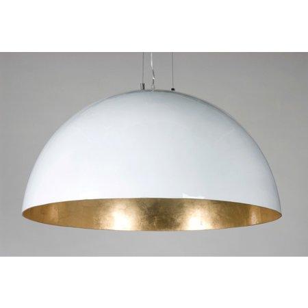 Grote hanglamp koepel wit, zwart of zilver 70cm Ø