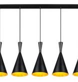 Lustre design noir ou blanc E27x5 1,1m long
