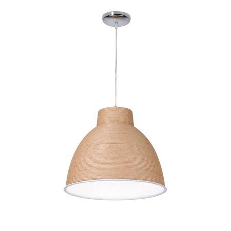 Luminaire suspendu moderne papier blanc ou brun 50cm Ø