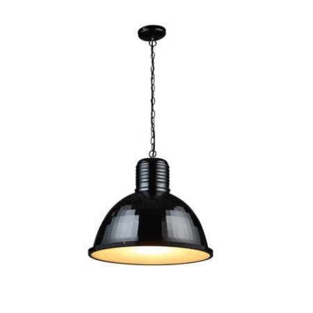 Industrial pendant light white, concrete, black 53cm Ø