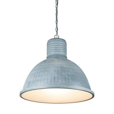 Industriële hanglamp wit, beton, zwart 53cm Ø E27