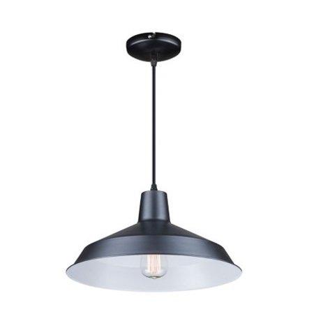 Lustre vintage cuivre, noir, blanc, béton 40cm diamètre