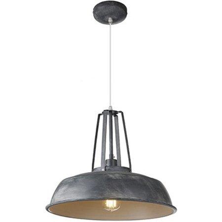 Industrial pendant light black, white, concrete 45cm Ø