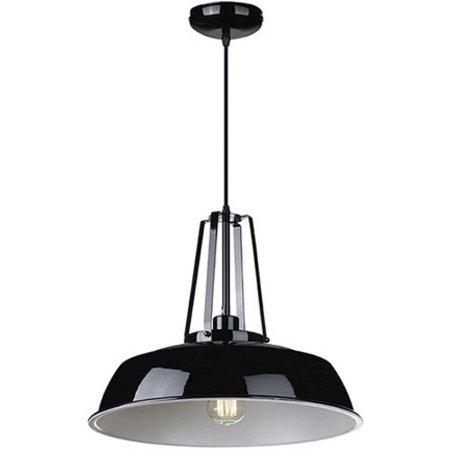 Lustre vintage noir, blanc, béton 45cm diamètre