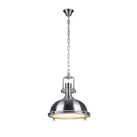 Industriële hanglamp chroom, koper of satijn nikkel 40cm Ø