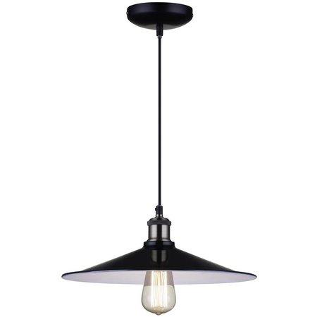 Vintage pendant light black lamp shade 26, 35cm Ø