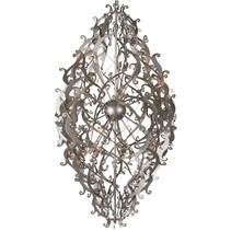 Design hanglamp grijs, zwart, wit sierlijk 150cm H G9x20