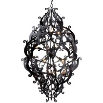 Metal pendant light black, white, grey elegant 113cm H