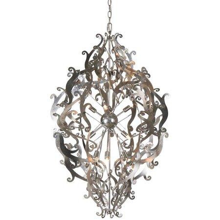 Design hanglamp grijs, zwart, wit sierlijk 113cm H G9x12