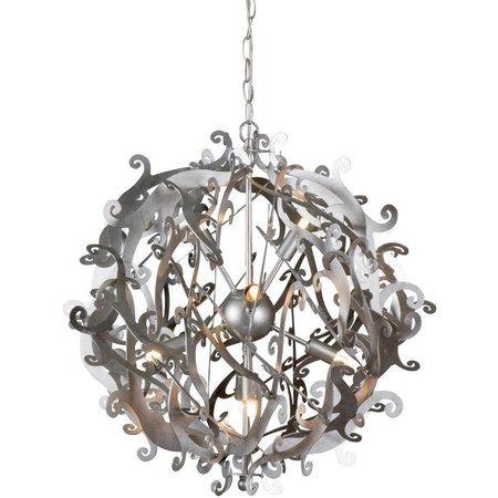Design hanglamp grijs, zwart, wit rond 51cm Ø G9x8