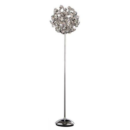 Design staande lamp chroom bol met strips 160cm