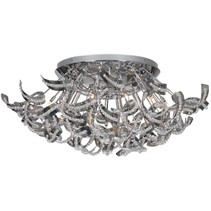 Contemporary ceiling light chrome slings 65cm Ø G9x19