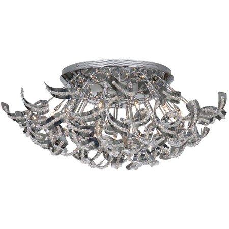 Design plafondlamp chroom slingers 65cm Ø G9x19