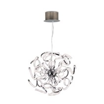 Lustre LED moderne chrome bandeaux 144W 580mm