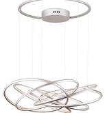 LED pendant light design rings white, black, grey 96W