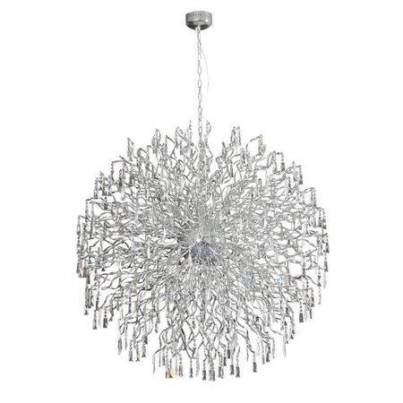 Lustre boule cristal G4x72 145cm diamètre