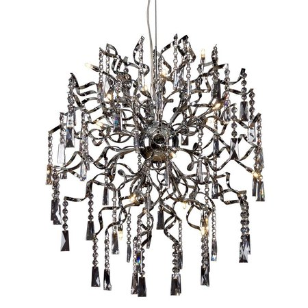 Crystal pendant light ball G4x16 60cm diameter