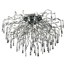 Plafondlamp kristal chroom spin G4x22 110cm diameter