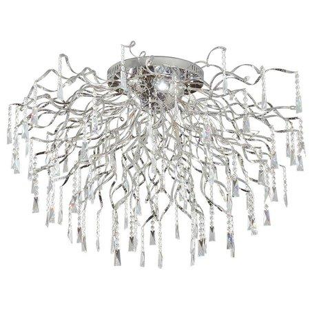 Plafondlamp kristal chroom spin G4x16 82cm diameter