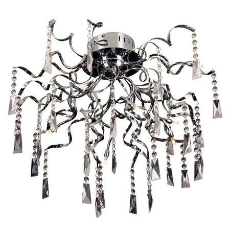 Plafondlamp kristal chroom spin G4x8 65cm diameter