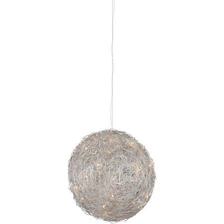 Lustre boule fil de fer 80cm diamètre G4x15