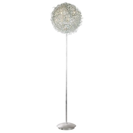 Spherical floor lamp gold or silver wire 44cm Ø