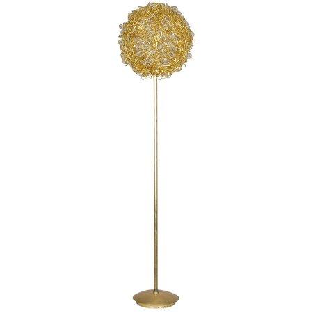 Lampadaire boule dorée ou argentée fil de fer 44cm