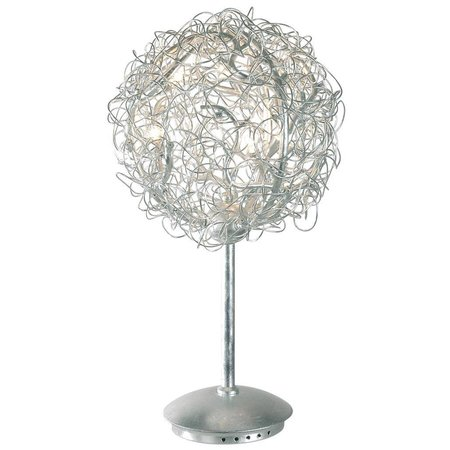 Ball table lamp gold or silver wire 35cm Ø