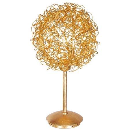 Lampe de table design fil de fer or, argent 35cm Ø