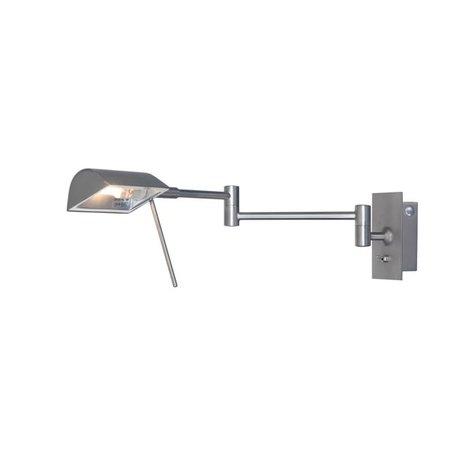 Moderne wandlamp grijs, chroom, brons richtbaar 39cm