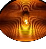 Pendant light design round black-gold 1xE27 400mm Ø