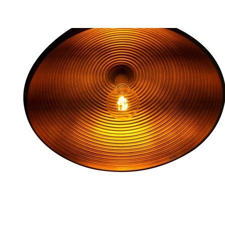 Luminaire suspendu design rond noir-doré 1xE27 Ø 400mm